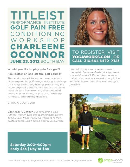 Pain free Golf seminar